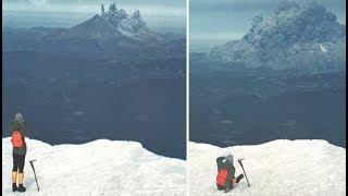 A Man Was Hiking Near Mt. St. Helens When It Erupted What He Captured Is Incredible