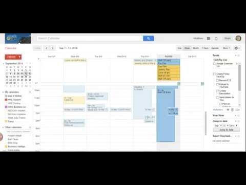 Google Calendar 102, Calendar Settings