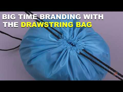 Big Time Branding With The Drawstring Backpack