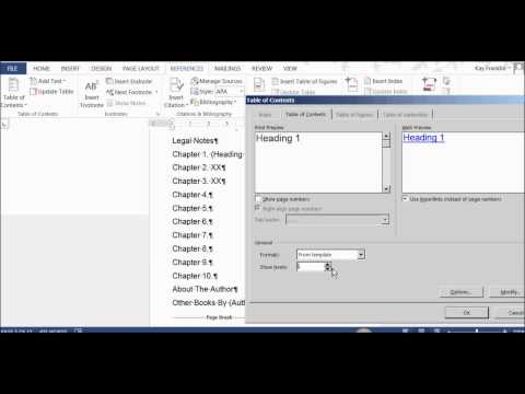 How To Automatically Remove Sub Headings in Word TOC