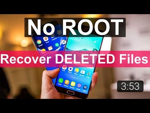 Recover deleted photos How to recover deleted photos in android  No root