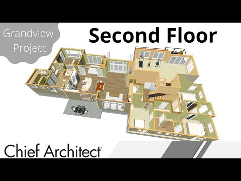 Floorplan - 2nd Floor, Stairs & Balcony  – Grandview Build project
