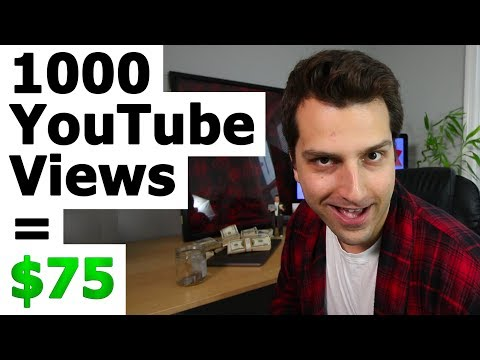 How Much Money Do You Get for 1000 Views On YouTube? (The $75 Payout Method!)