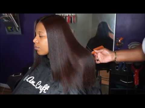 silk press on natural hair by Deeper Than Hair stylist, @i_am_craft.