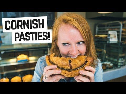 English food - Trying a CORNISH PASTY!  (Cornwall, England)
