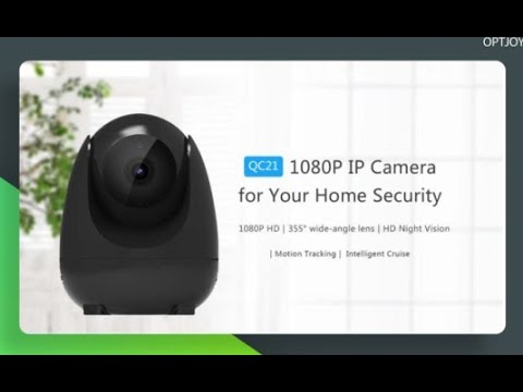 Excellent Night vision:OPTJOY QC21 1080P HD, Wireless Indoor Camera With Motion Tracking