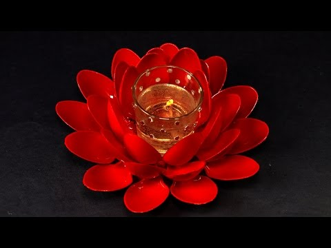 How to Make Handmade Gel Candles - Lotus Shaped Candel for Table Decoration