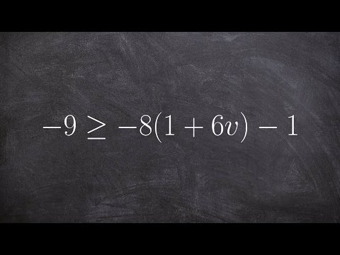 Solving a multi step inequality by using distributive property