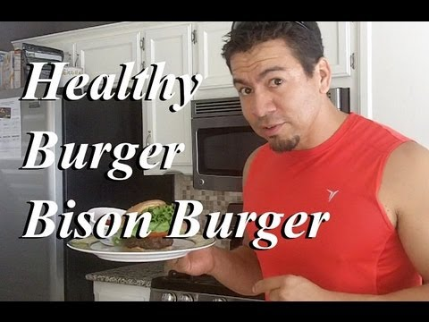 Healthy Burger - Spicy Bison Burger
