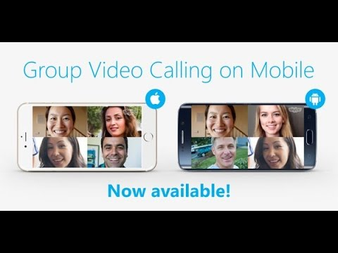 How to group video call on Skype on your phone