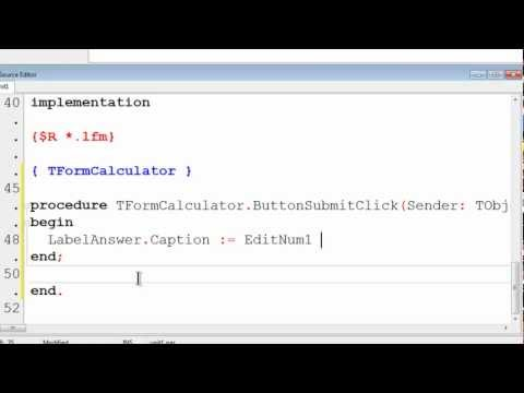 Free Pascal App Tutorial 6 - Simple Calculator Part 2 - String Conversion - Lazarus