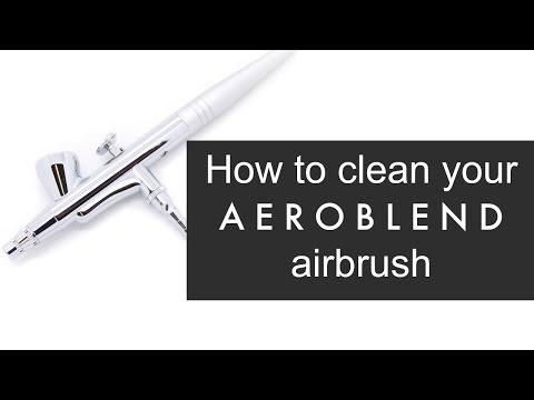How do I clean my AEROBLEND airbrush stylus?