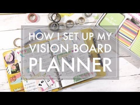 DIY Vision Board // Plan with Me Vision Planner 2017 - Blog Goals & Vision