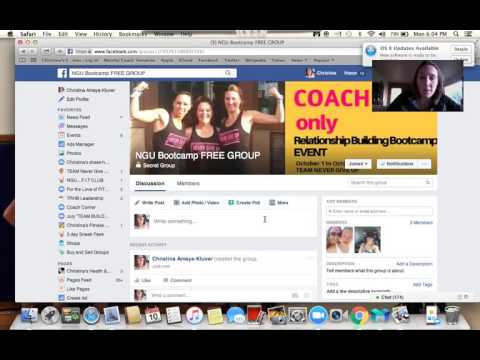 NGU: Directions on how to create a FREE private FB group