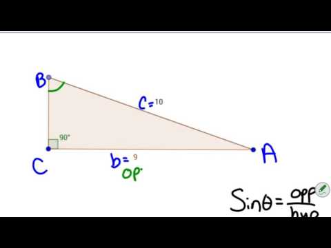 How to solve a triangle if it is right