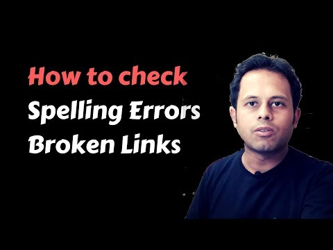 QnA Friday 33 - How to check Spelling Mistakes and Broken Links