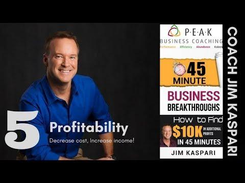 #5 Increase profitability - Decrease costs, increase income!