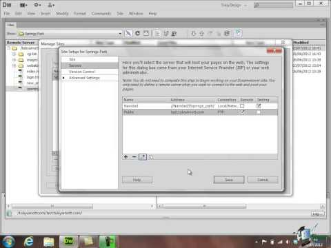 Dreamweaver CS6 Training - Part 25 - Site Preferences and Checking Files Out/In - Create a Website