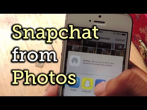 Send an Image to Snapchat Directly from the Stock Photos App on iOS 8 [How-To]