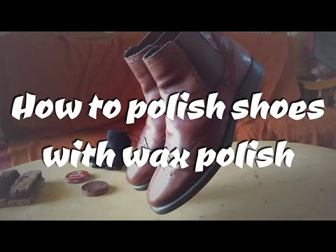 How to polish shoes with wax polish