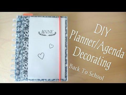 DIY Planner/Agenda Decorating - Back To School
