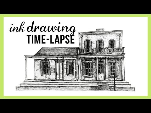 Time-lapse pen and ink illustration!