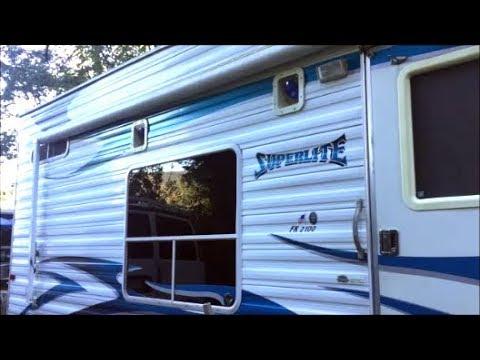😑BIG AIR LEAK on camper ramp door frame and inner wall - how to fix - Weekend Warrior toy hauler RV