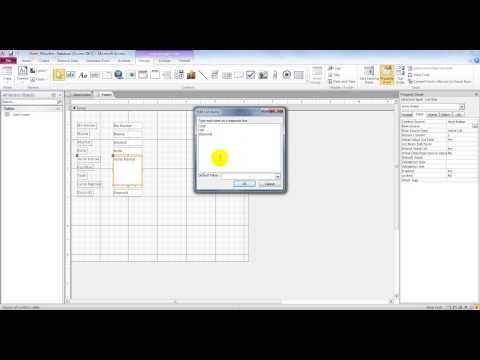 Membuat List Box, Combo Box dan Check Box di Ms. Access
