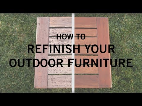 How to Refinish Your Outdoor Furniture