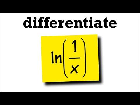 Derivative of ln(1/x)