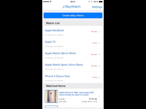 BayWatch eBay™ New Item Alerts