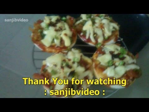 How to make veg Pizza in microwave oven step by step for your kids. ( Homemade )