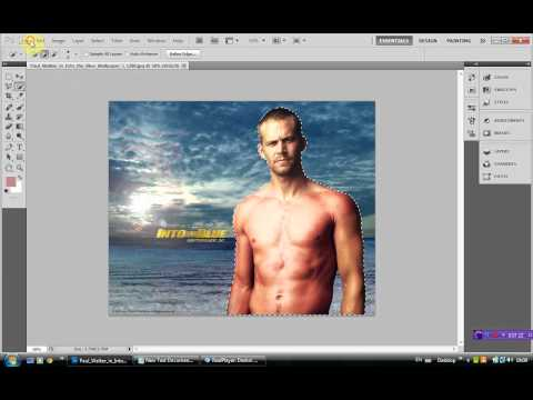 photoshop cs5, changing background very  easy in little steps
