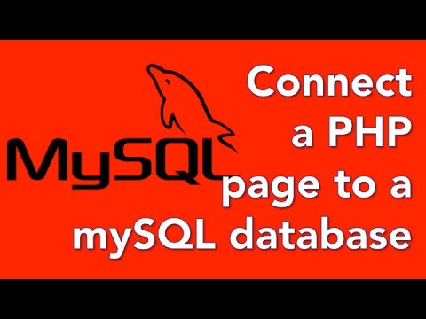 How to create a database website with PHP and mySQL 04 - Connect to a mySQL database