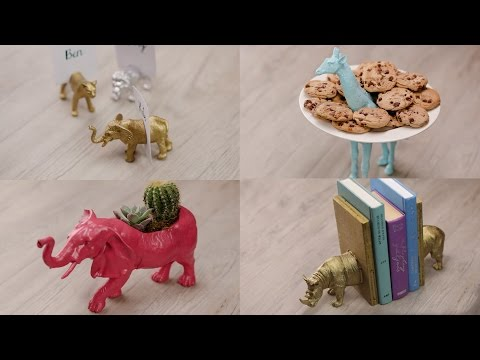 4 DIY Projects from Toy Animals