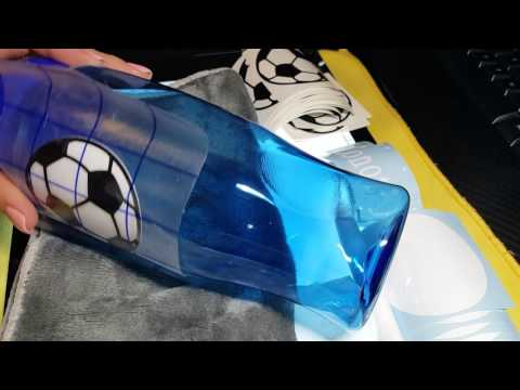 How to apply vinyl to a plastic water bottle (Como aplicar vinil a uma garrafa de plástico)