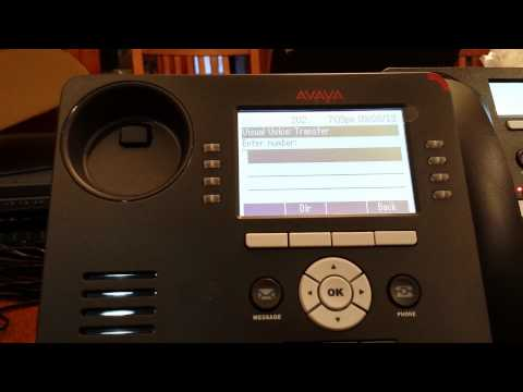 Avaya IP office transferring a call directly to voicemail