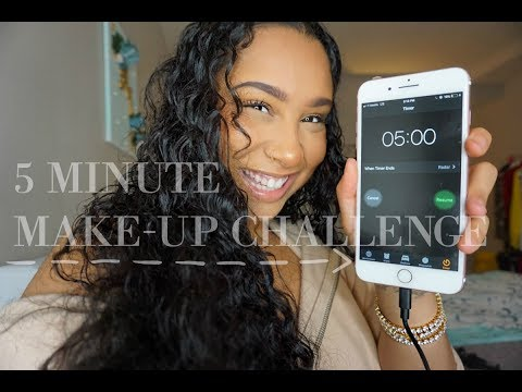 5 Minute Make- Up Challenge | TheAnayal8ter
