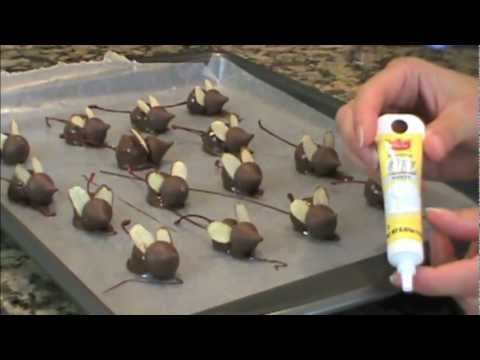 Exclusive! Chocolate Covered Cherry Christmas Mice