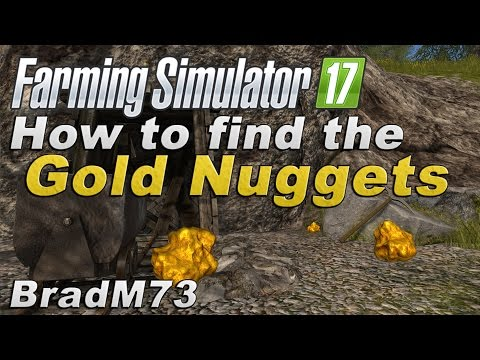 Farming Simulator 2017 - How to find ALL the GOLD NUGGETS!!