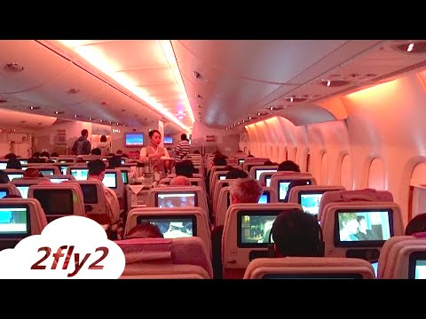 EMIRATES AIRBUS A380 MILAN-DUBAI ECONOMY CLASS HD
