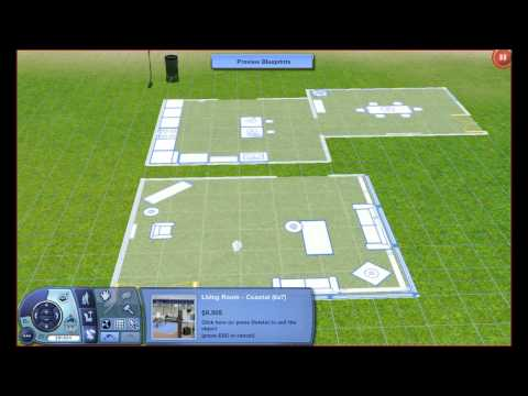 Sims 3 How-To: Use the Blueprint System