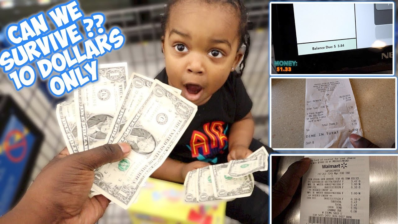 """ME AND MY SON TRIED LIVING OFF """"  $10.80 """" FOR 24 HOURS !!!! * HARDEST CHALLENGE EVER SMH *"""