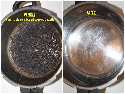 How to clean a burnt pot/pan/cookware easily - Malayalam Video By Pachakalokam