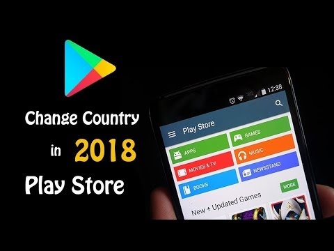 How to change your country in play store