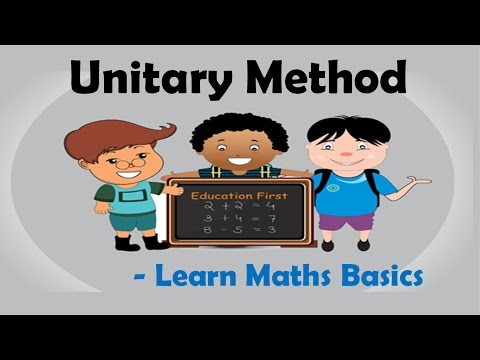 Unitary Method in Simple words - Learn Maths Basics