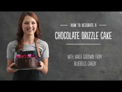 How to decorate Karla's Chocolate Drizzle Cake