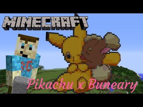 Minecraft Pixelart Timelapse: Pikachu x Buneary (LagomorphShipping)