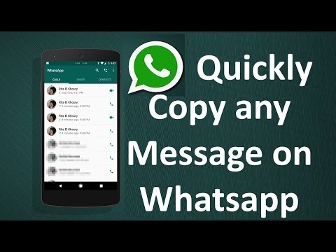How to Quickly copy a whatsapp message
