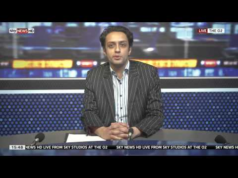 Reading Sky News at the O2 Arena, London - Anas Hassan
